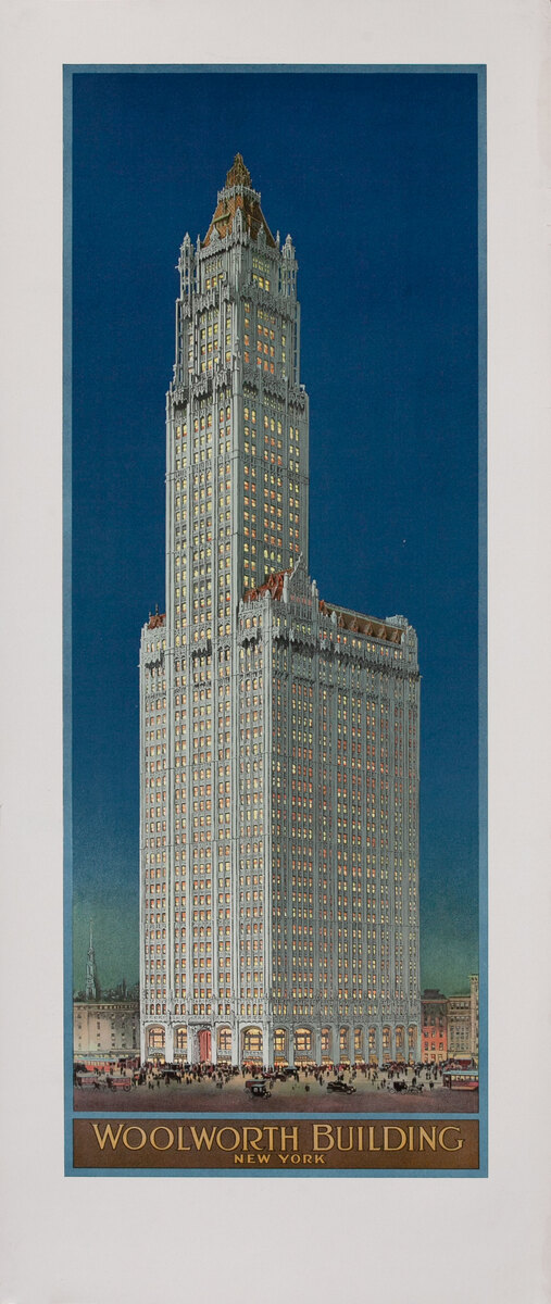 Woolworth Building New York City Architectural Poster