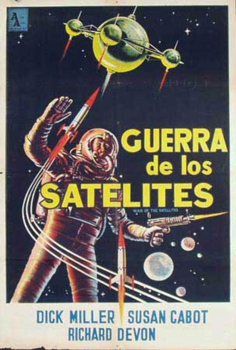 War Of The Satellites Original Spanish Science Fiction Movie Poster