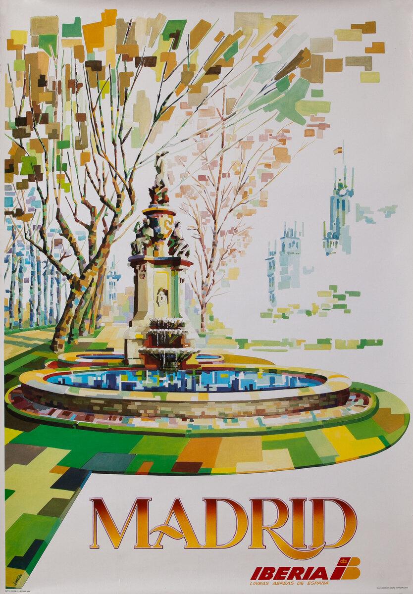 Iberia Spanish Airlines Madrid Fountain