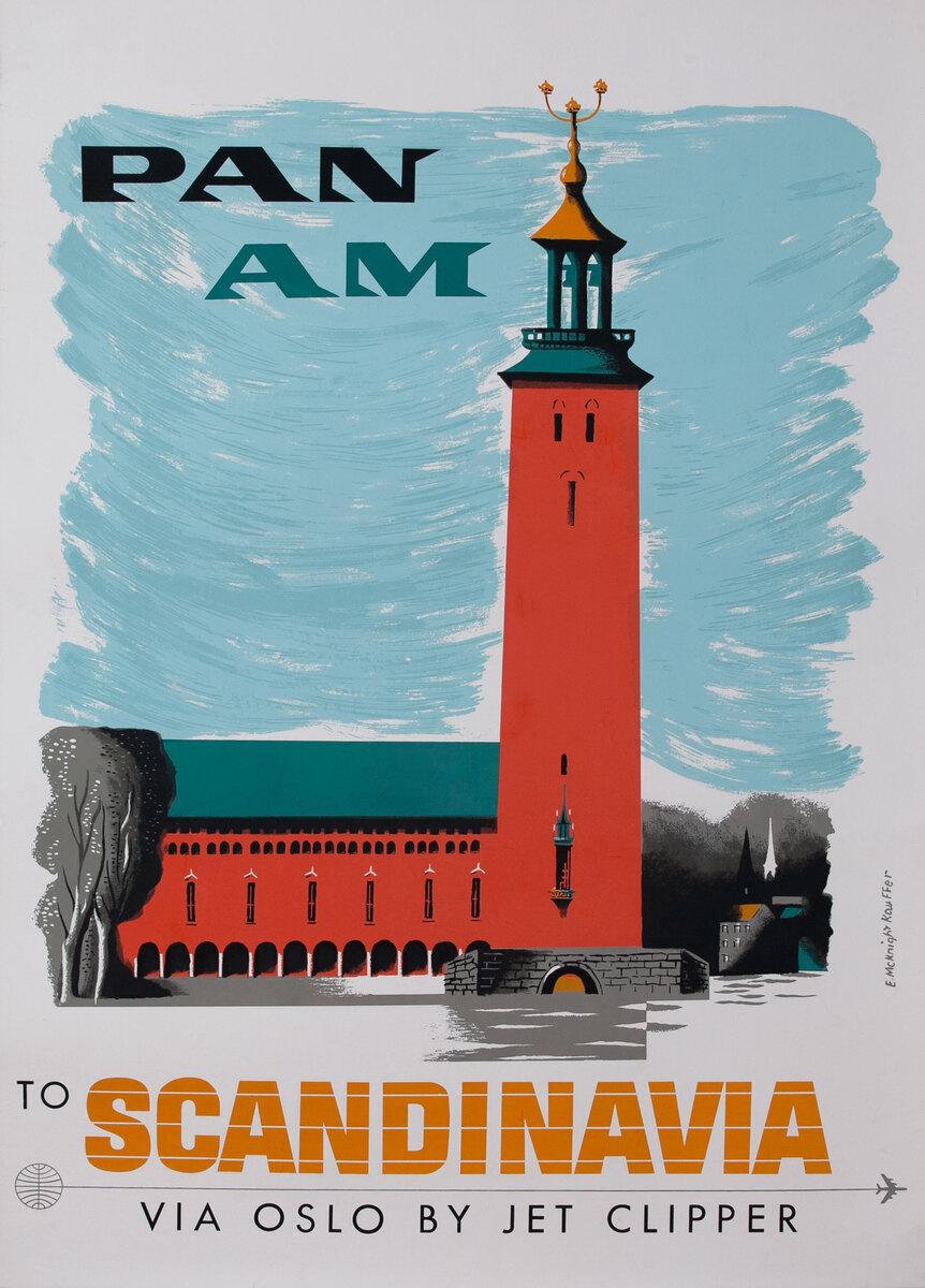Pan Am To Scandinavia Via Oslo By Jet Clipper