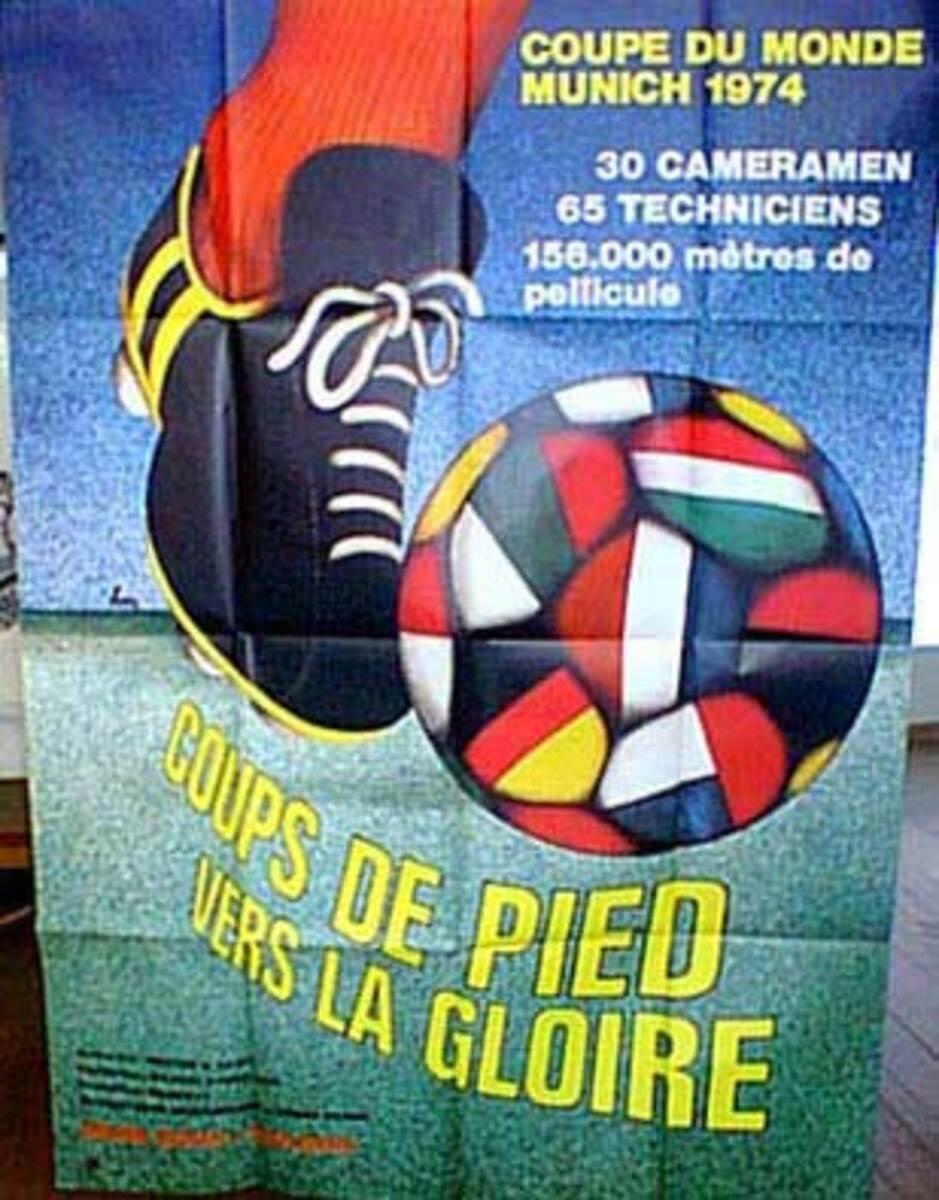 1974 WORLD CUP Soccer Vintage Original Movie Poster