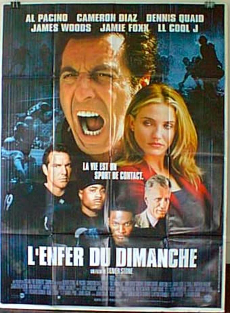 Any Given Sunday Original French Movie Poster