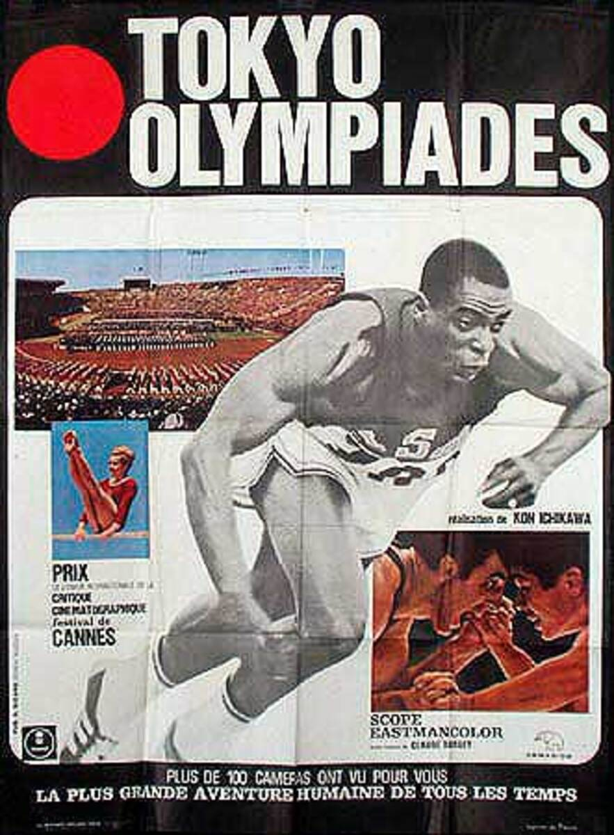 Original 1964 Tokyo Olympics Movie Poster