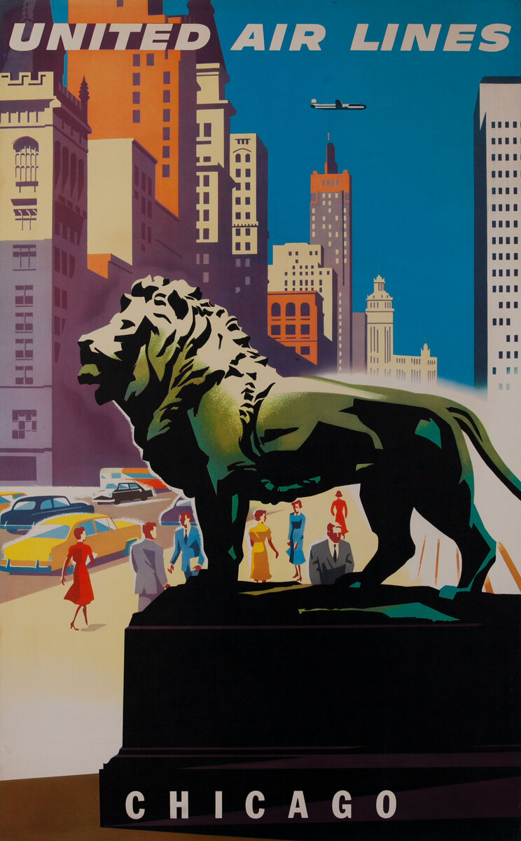 United Air Lines Chicago Lion