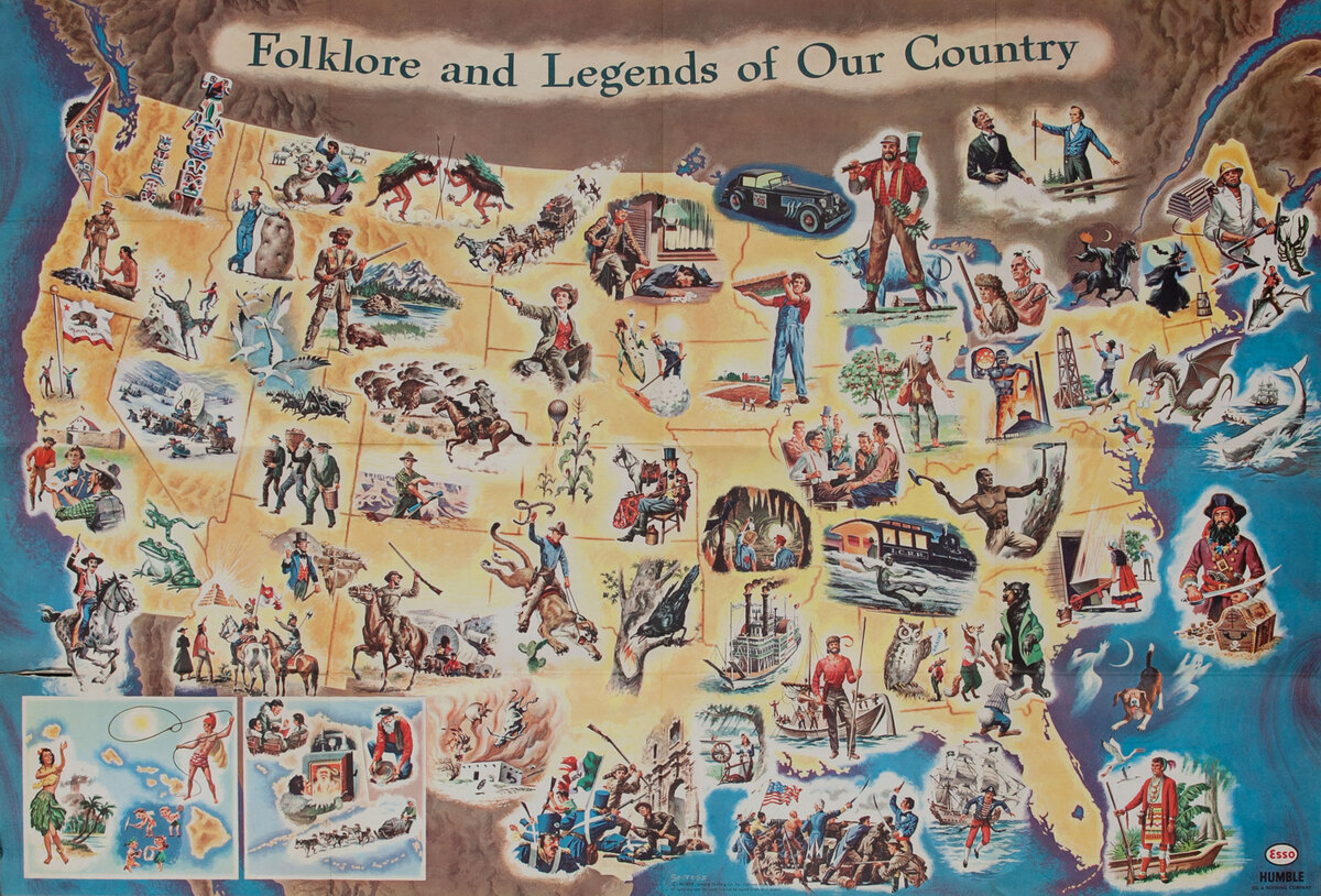 Folklore and Legends of Our Country Esso - Humble Propotional Map