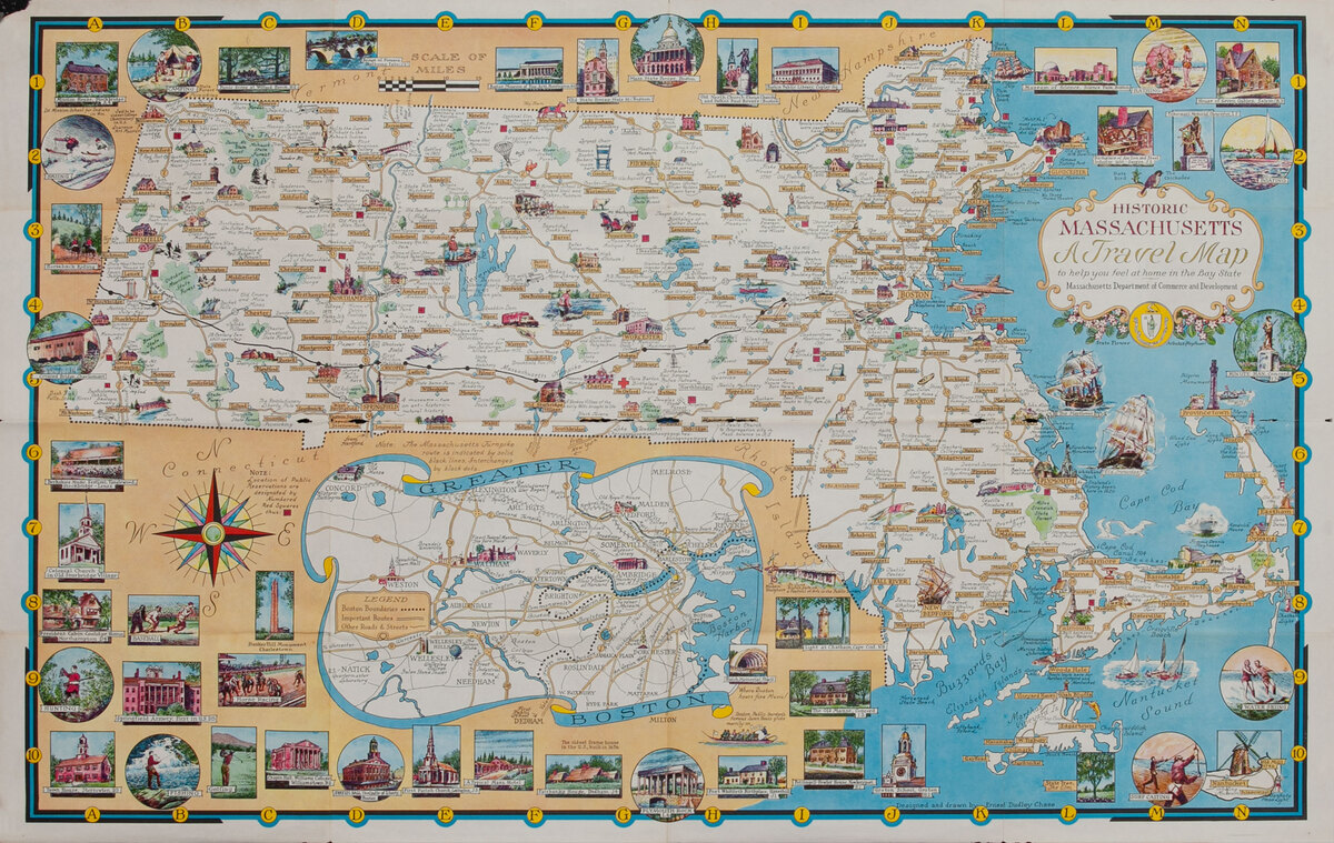 Historic Massachusets a Travel Map to help you feel at home in the Bay State