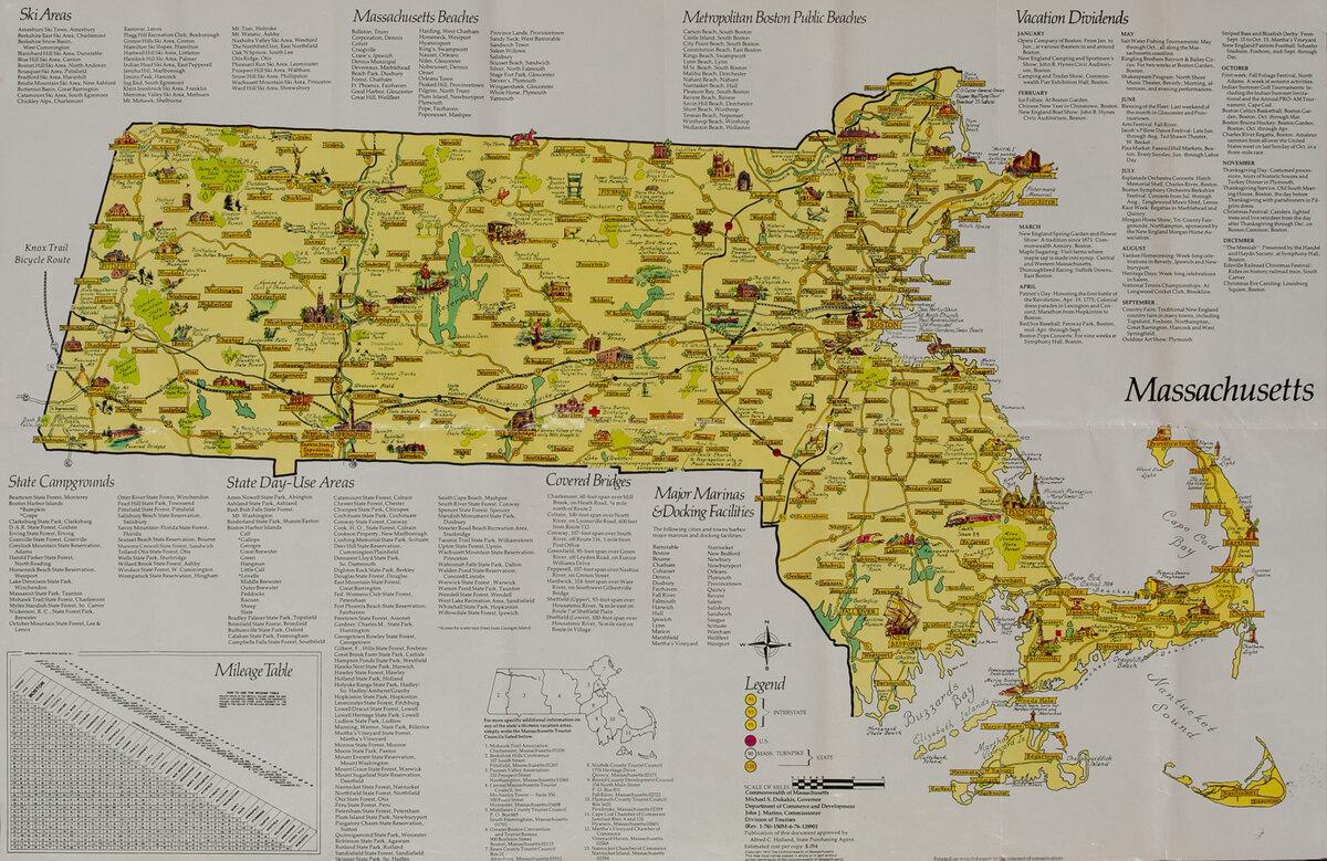 Massachusetts Travel Map