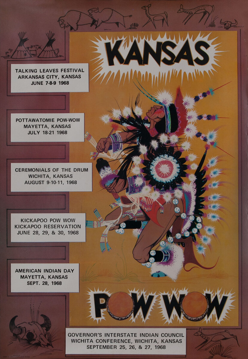 Kansas Pow Wow Generic Poster Showing the dates and lc
