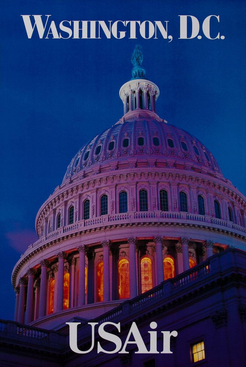 USAir Washington DC Capitol Building Dome