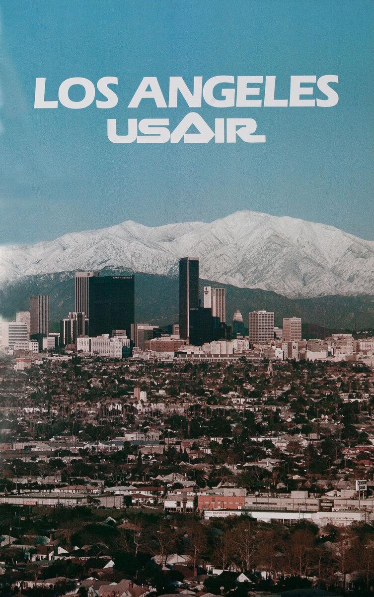 Los Angeles USAir Snow covered San Gabriel Mountains