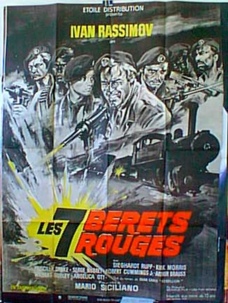 7 Red Berets Original French Movie Poster