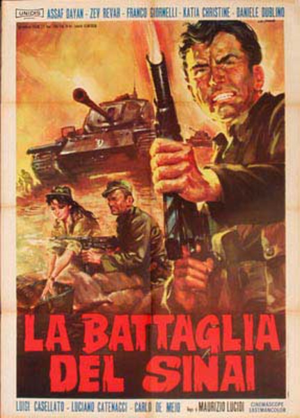 Battle of the Sinai Italian release Original Movie Poster