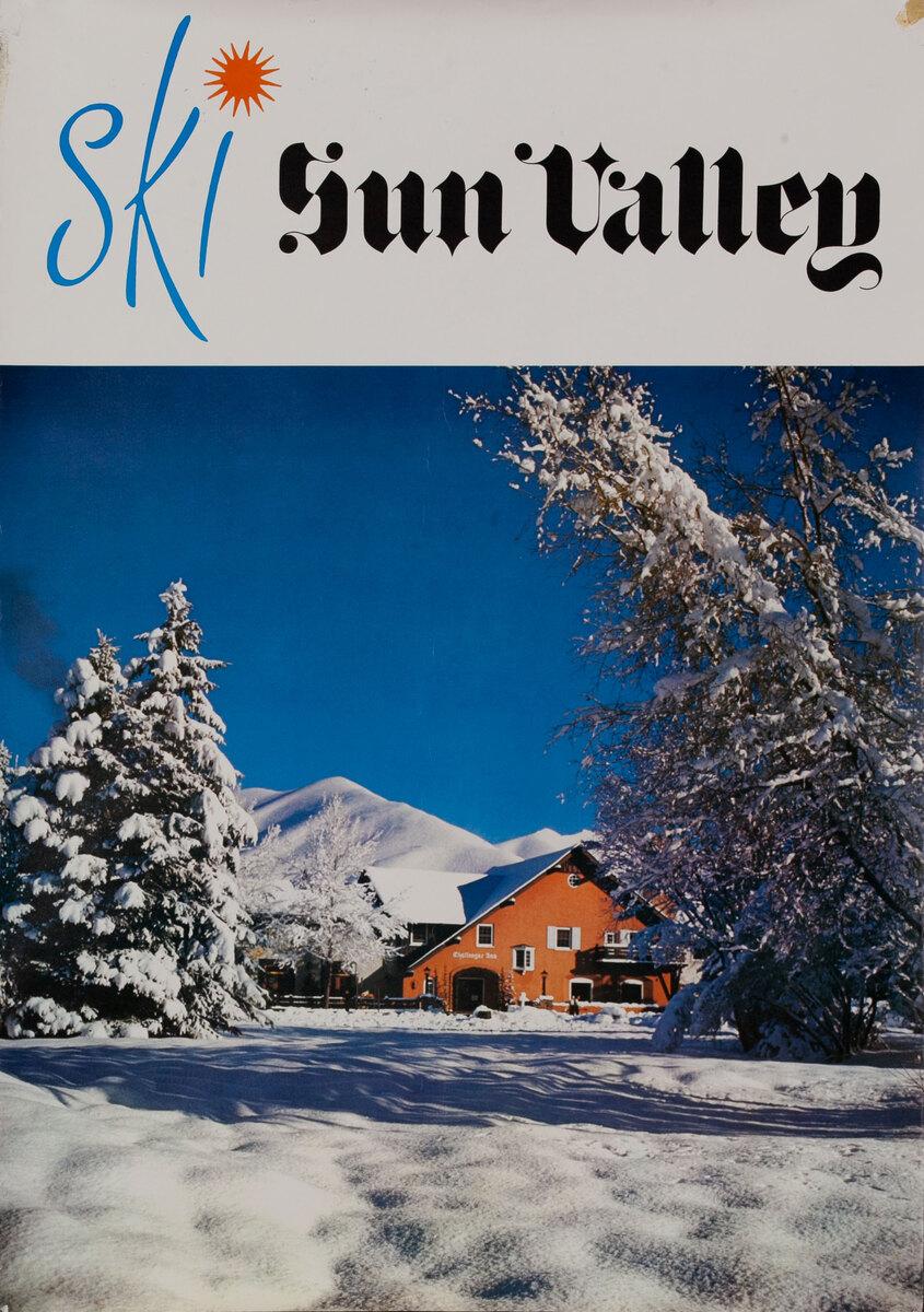 Ski Sun Valley, chalet in the snow