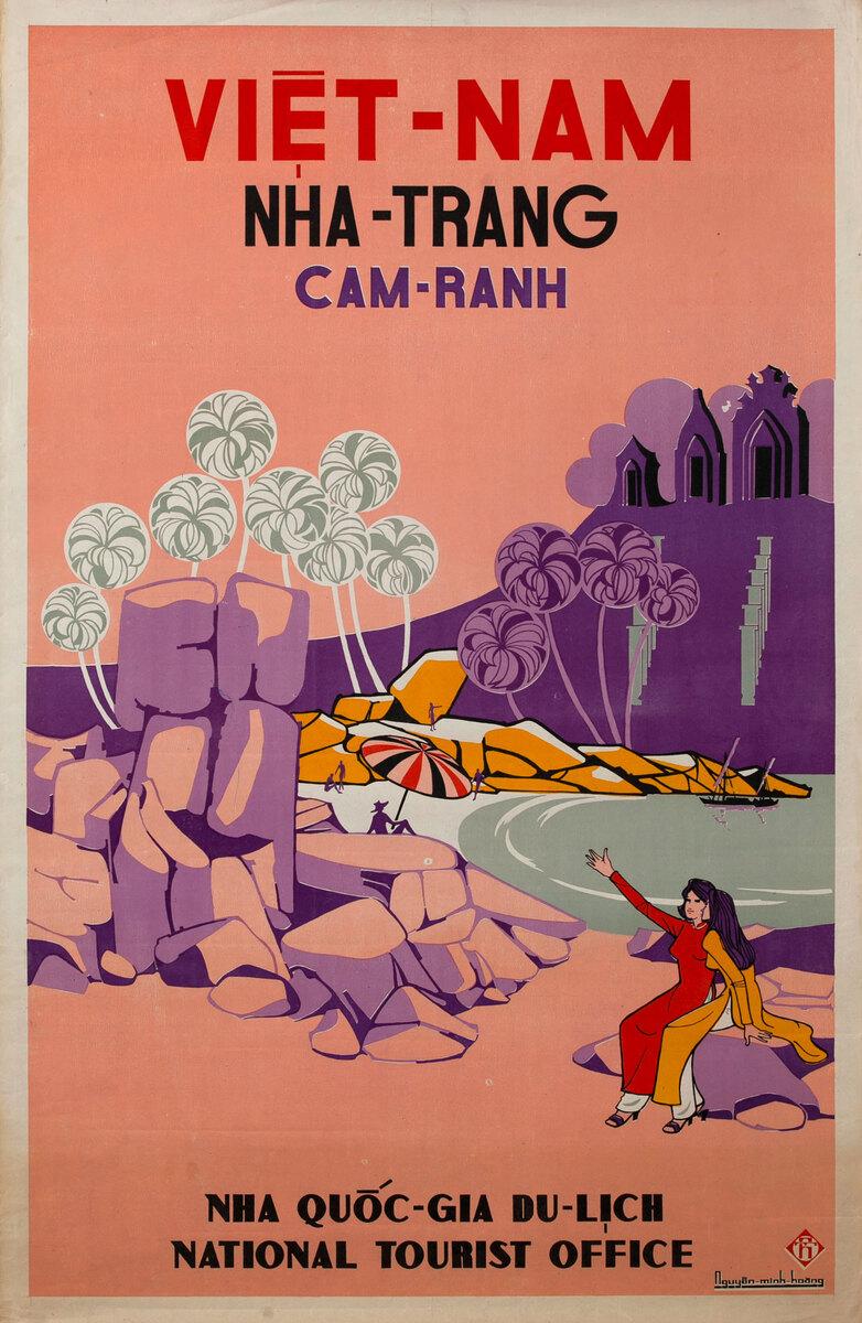 Viet-Nam Nha-Trang Cam-Ranh Vietnamese National Tourist Office Travel Poster