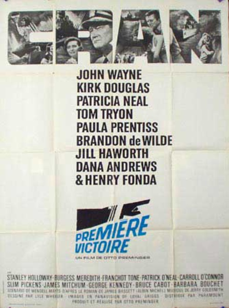 In Harm's Way Original Vintage Movie Poster French Release