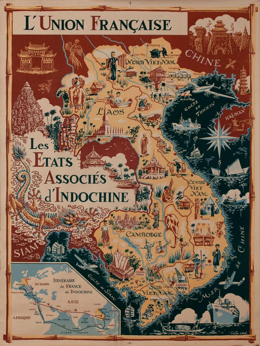 L'Union Française - Les Etats Associes d'Indochine