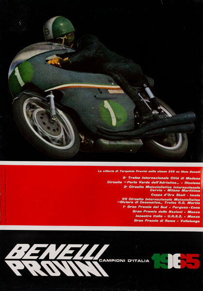 Benelli Provini Motorcycle Poster