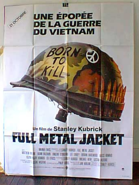 Full Metal Jacket Original French Movie Poster