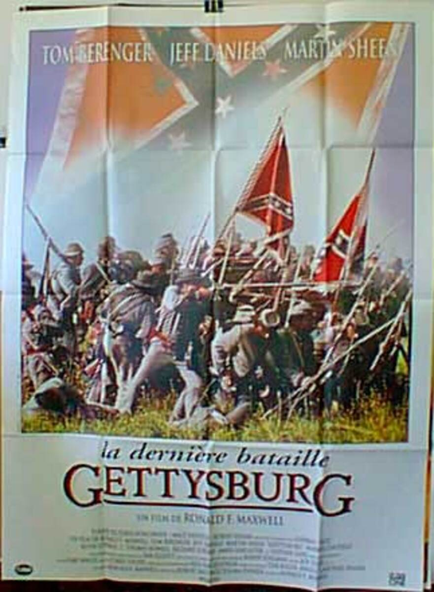 Gettysburg Original French Movie Poster