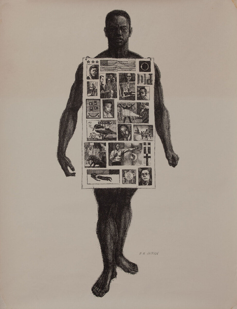 Black Man With Sign Board - Student Nonviolent Coordinating Committee Poster