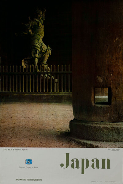 Gate to a Buddhist Temple- Japan National Tourist Organization Poster