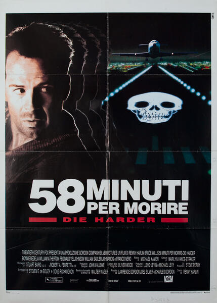58 Minuti Per Morire  Die Harder Italian Movie Poster