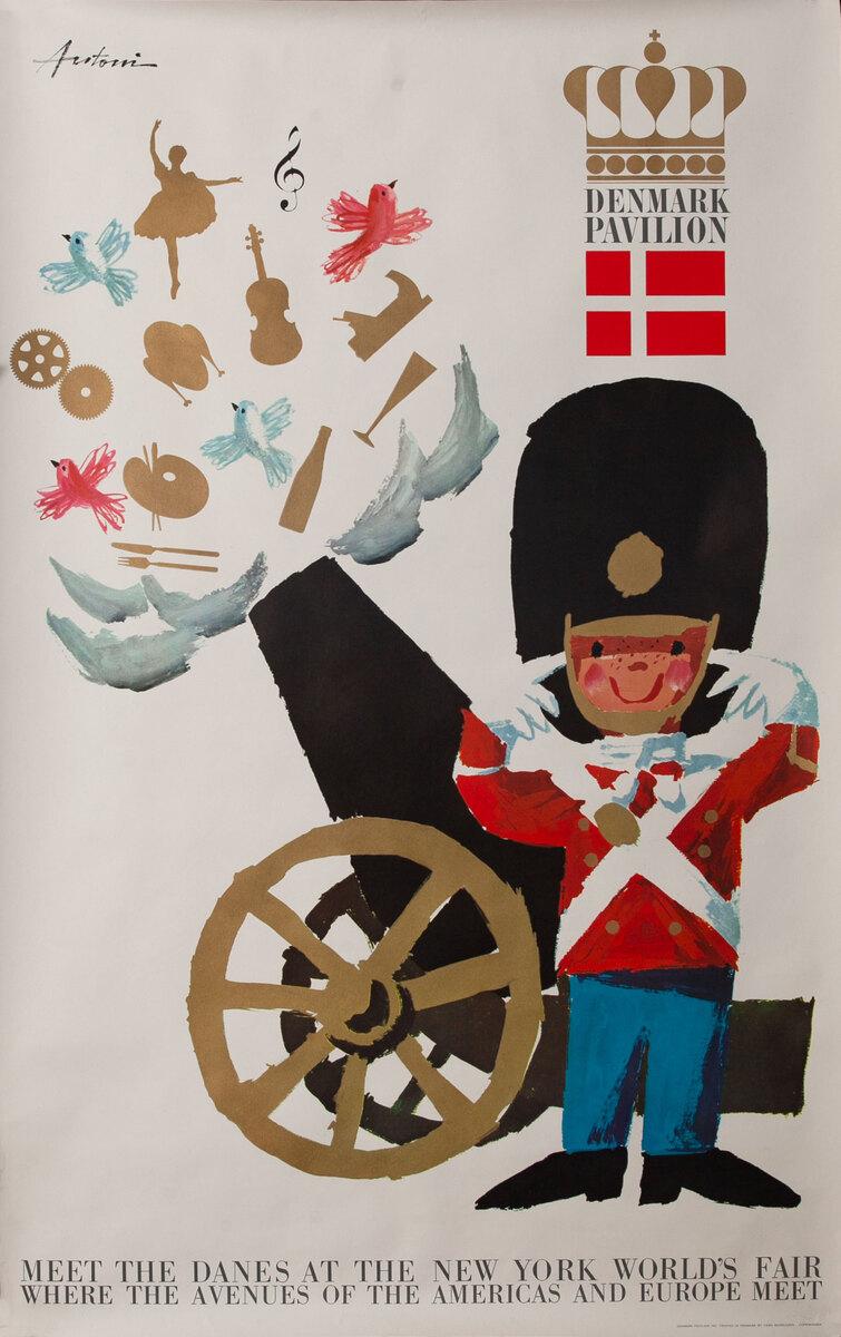 Denmark Pavilion 1964 New York World's Fair Poster