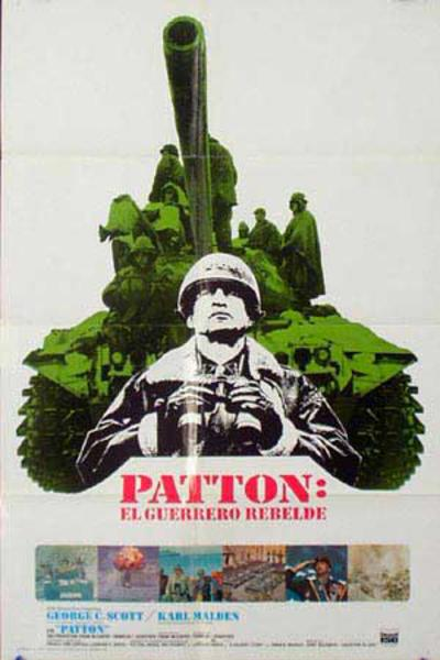 Patton Original Vintage Movie Poster Spanish Release