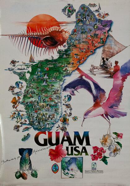 Guam USA Travel Poster