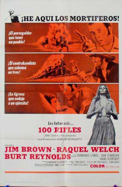 100 Rifles Original Movie Poster Spanish Release