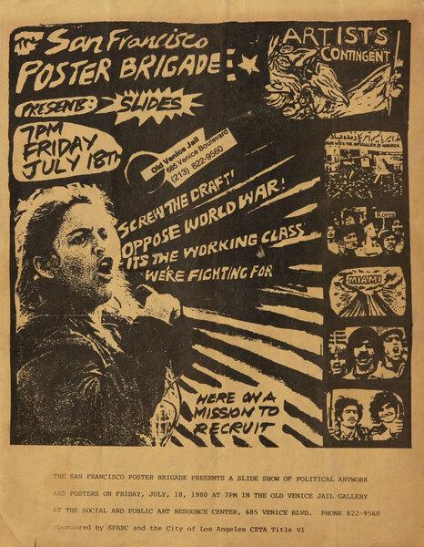 The San Francisco Poster Brigade Presents Slides