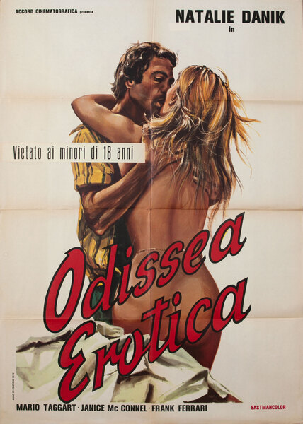 Odissea Erotica Italian X-Rated Movie Poster Original Title Roxani, i odysseia tou sex