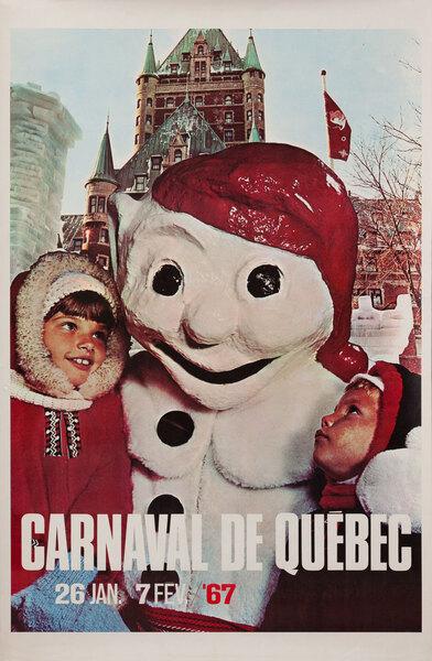 Carnaval de Quebec Canadian Travel Poster
