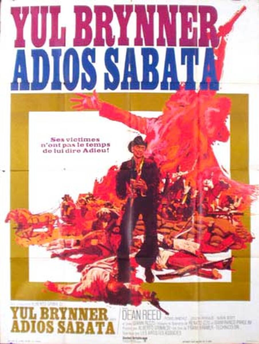 Adios Sabata Original Vintage Movie Poster French Release