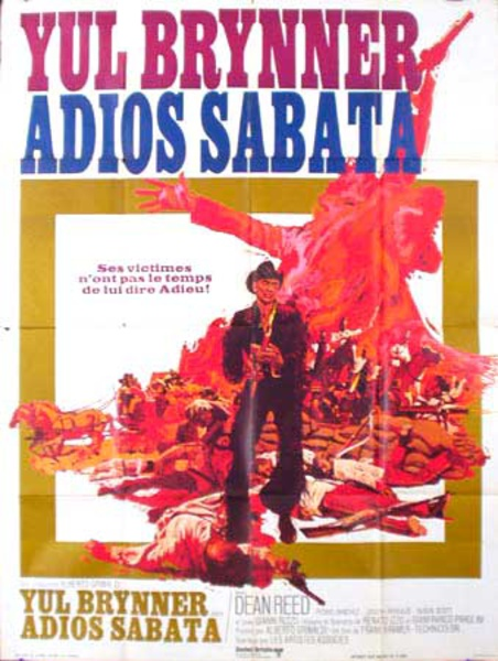 Adios Sabata Original Vintage Movie Poster French Release