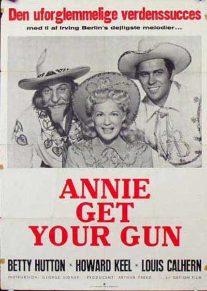 Annie Get Your Gun Original Vintage Movie Poster Swedish Release