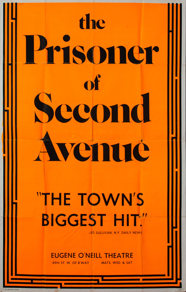 the Prisoner of Second Avenue Theater Poster