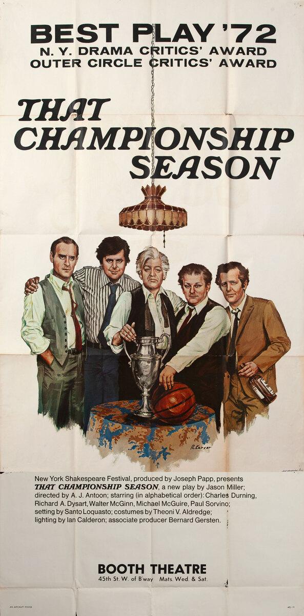 That Champion Season 3 Sheet Theatre Poster