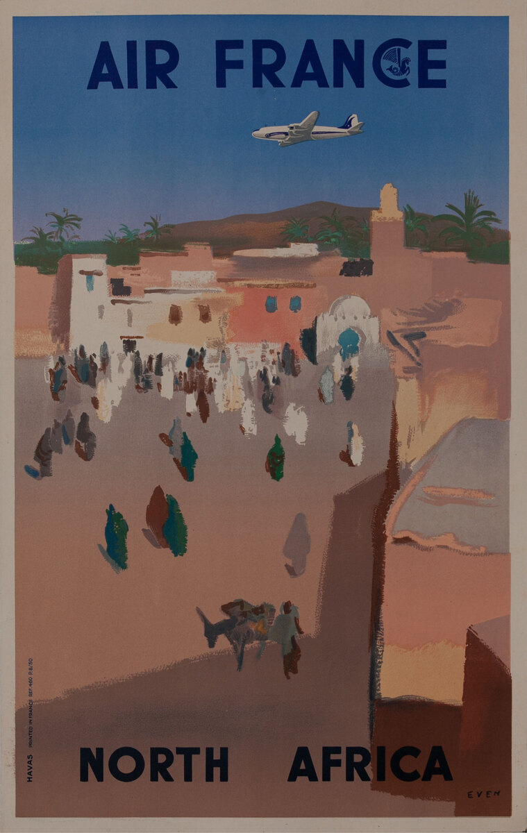 Air France North Africa 1/4 sheet Poster