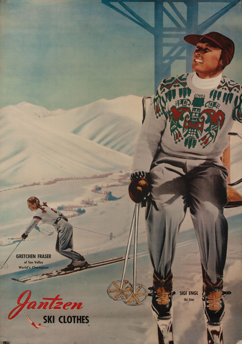 Jantzen Ski Clothes Gretchen Fraser & Sigi Engl