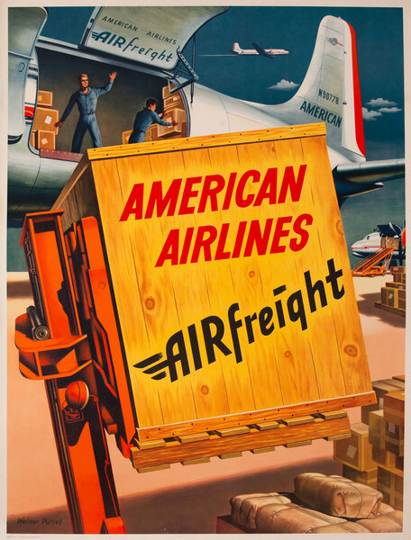 American Airlines Airfreight Poster