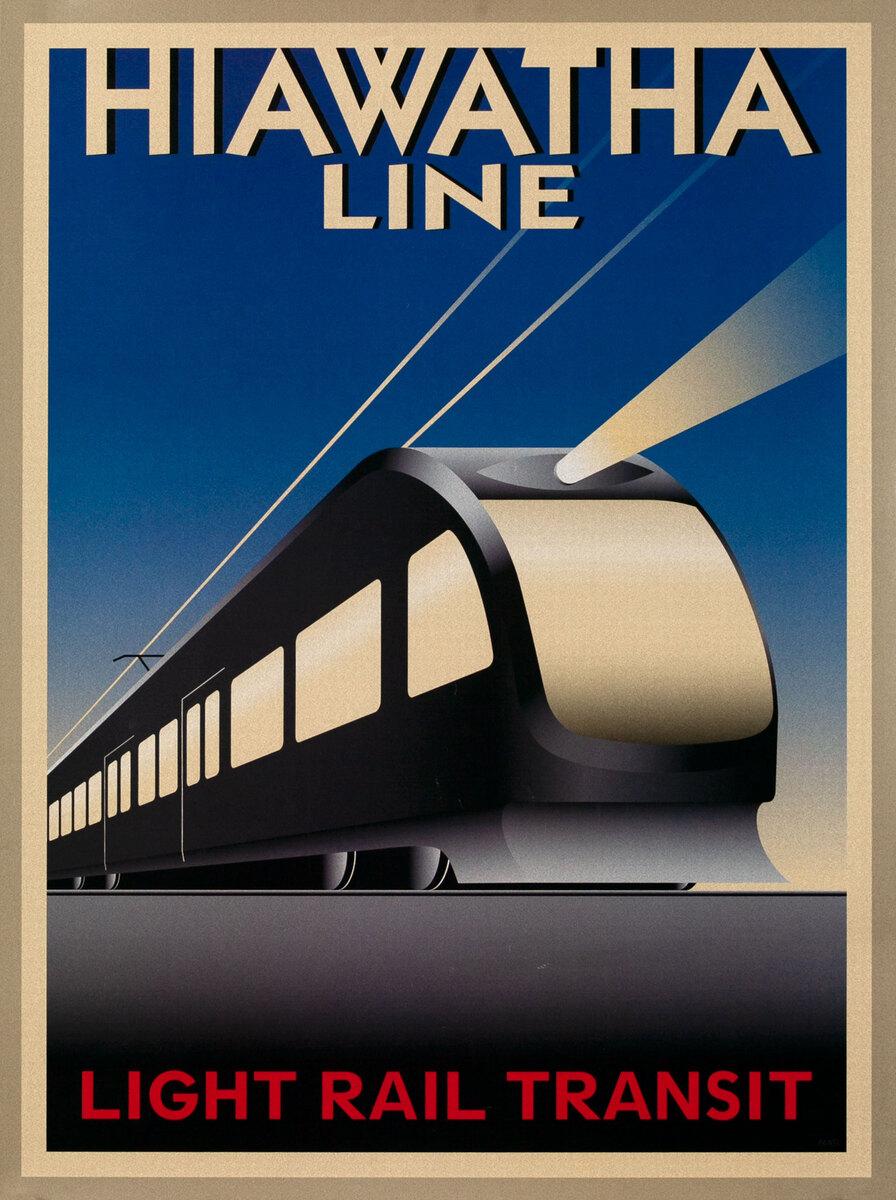 Hiawatha Line Light Rail Poster
