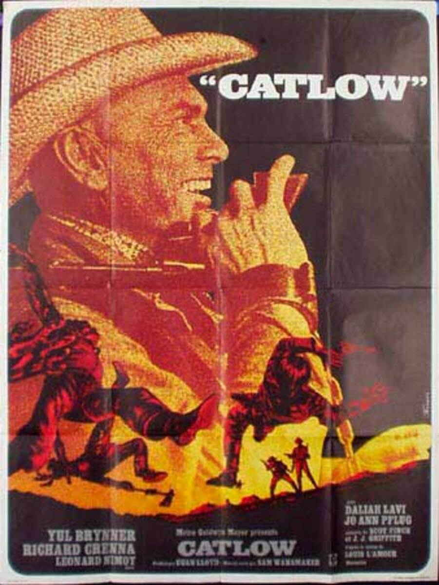 Catlow Original Vintage Movie Poster French Release
