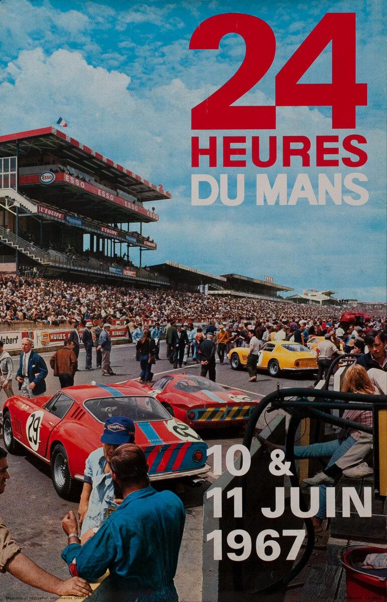 24 Heures du Mans 1967 - LeMans 24 Hour Formula 1 Race Poster