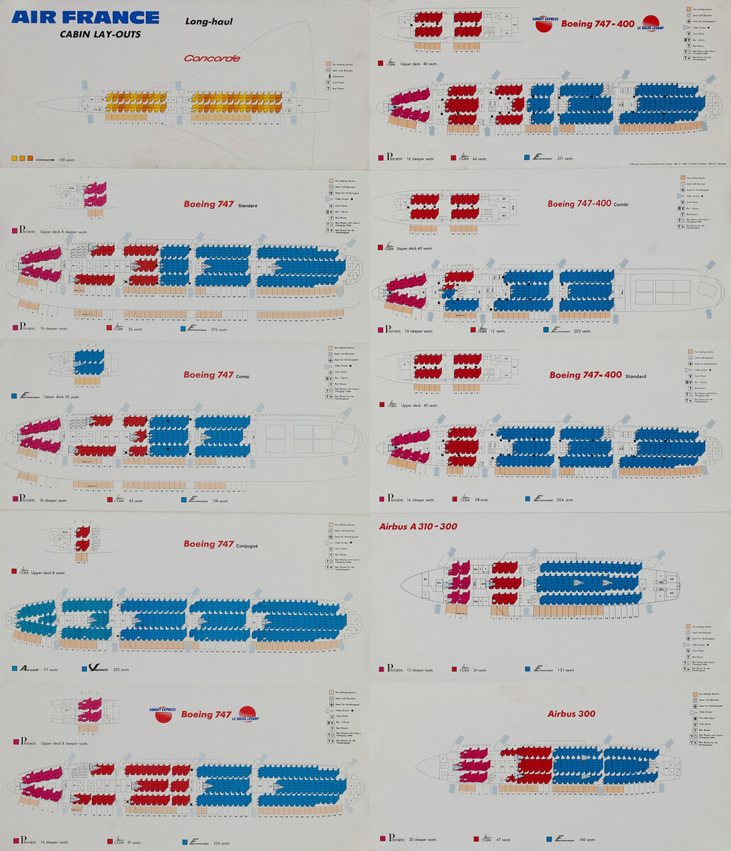 Air France Cabin Layouts