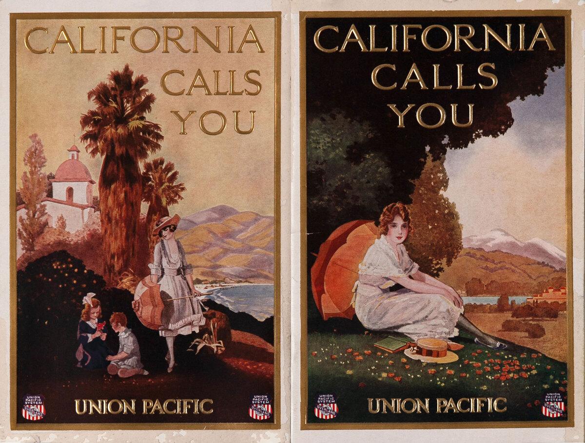 Union Pacific California Calls You Travel Brochure