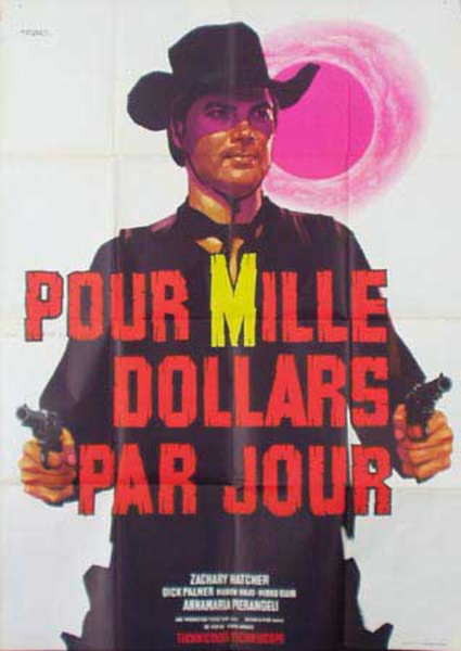 For $1,000 A Day Original Vintage Movie Poster Italian release