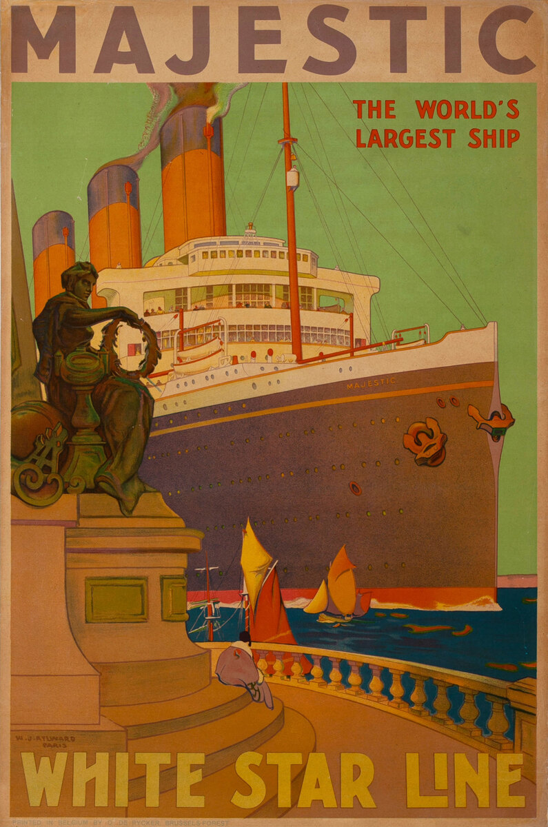 Majestic The World's Largest Ship - White Star Line