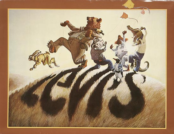 Levi's Pants Original Advertising Poster animal shadows