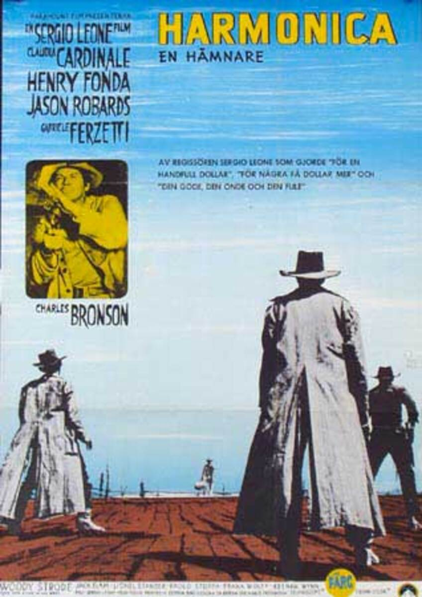 Once Upon a Time in The West  Original Vintage Movie Poster Swedish Release